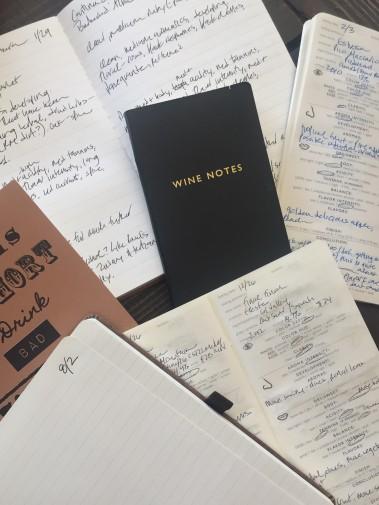 tasting notebooks