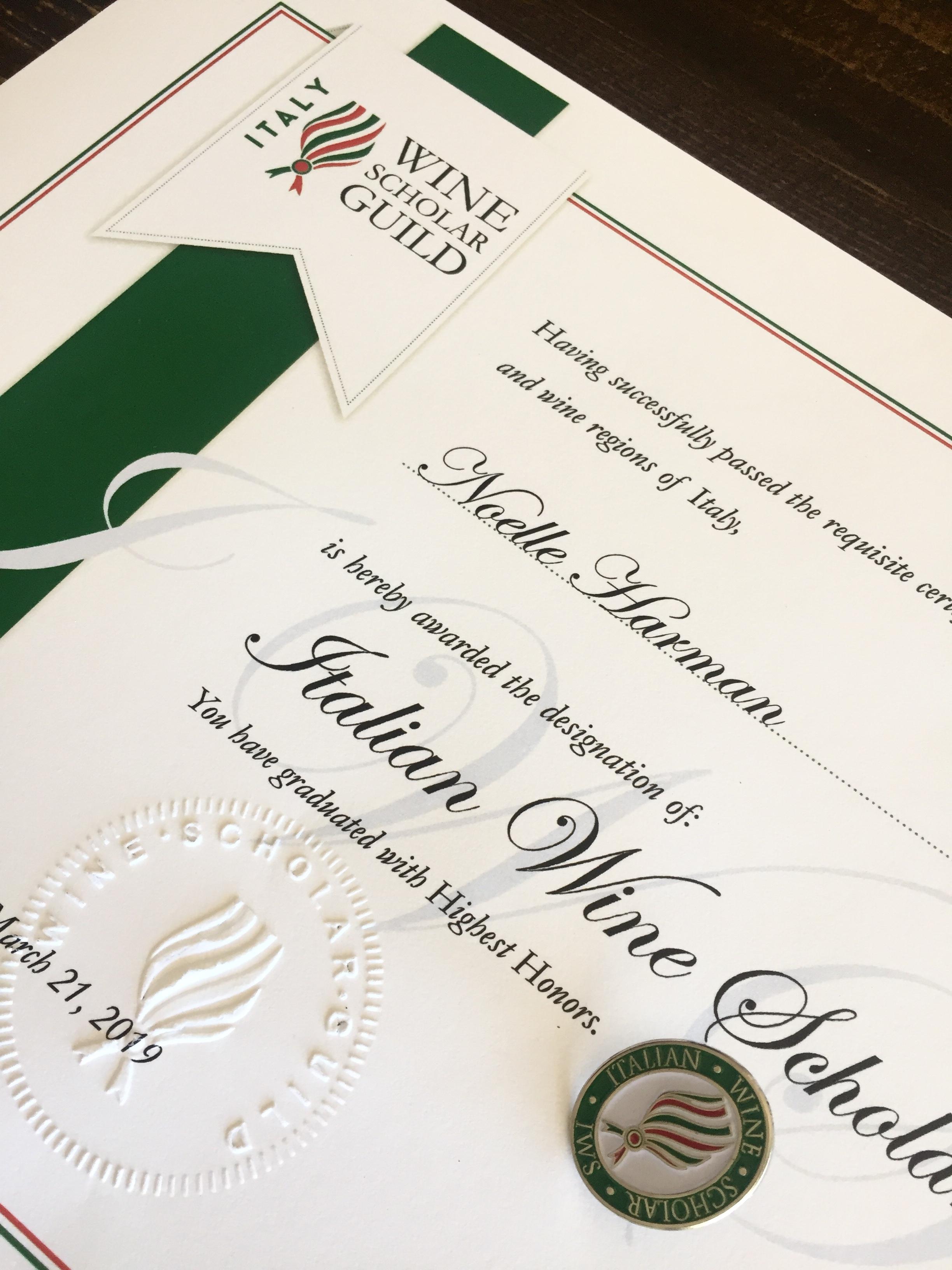 IWS certificate