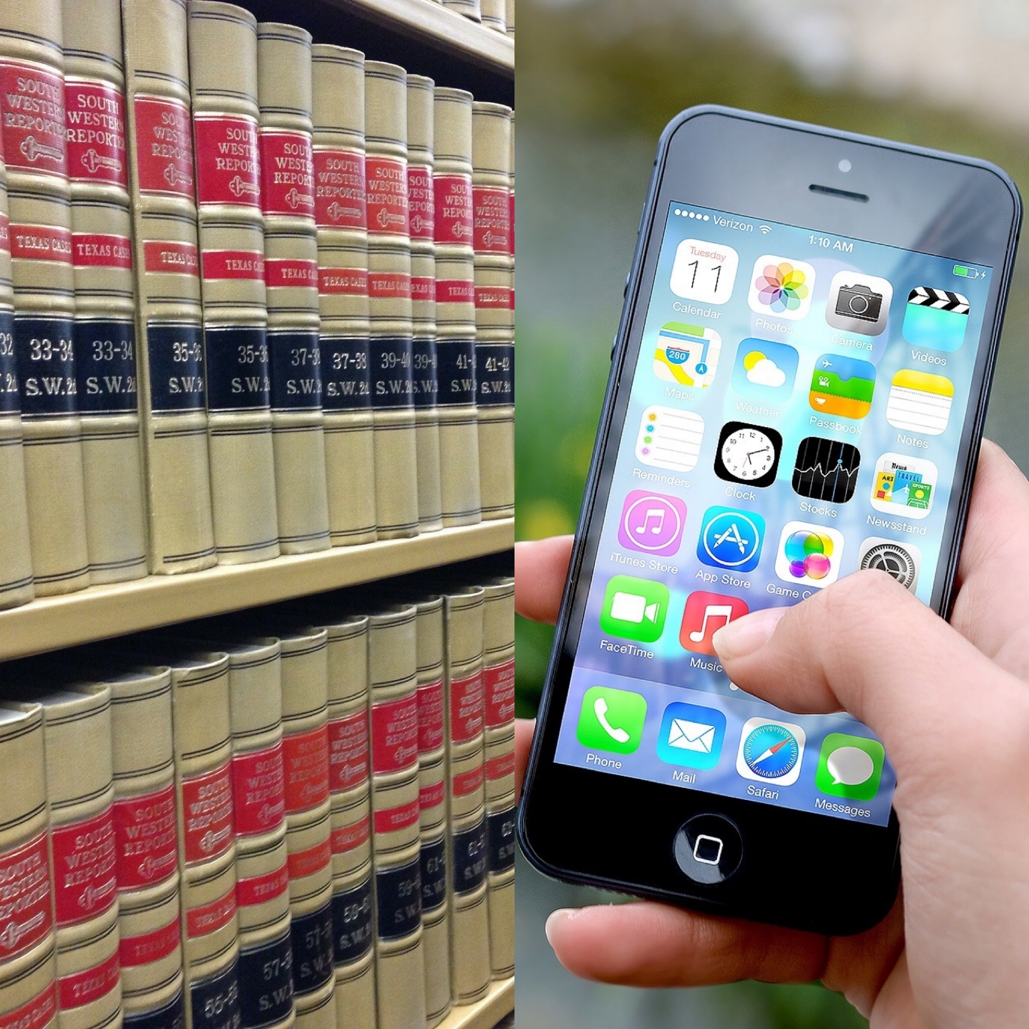 Law books and Internet