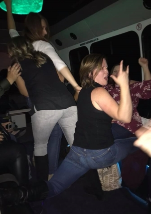 Splits on the party bus